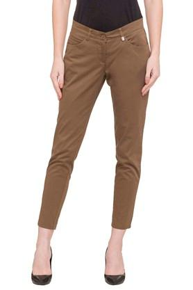 Womens 5 Pocket Solid Pants