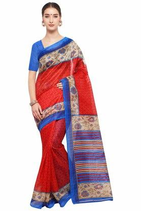 RACHNA Womens Printed Bhagalpuri Silk Saree - 204088346_9308