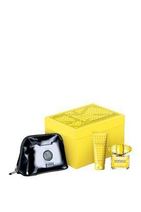 Womens Yellow Diamond Eau De Toilette Body Lotion and Travel Pouch Set