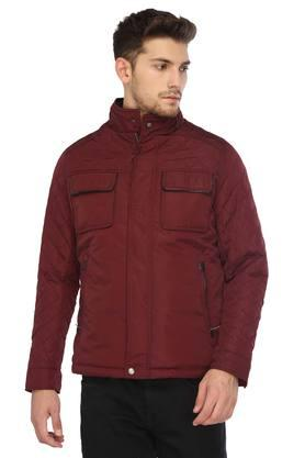 LOUIS PHILIPPEMens Zip Through Neck Solid Quilted Jacket - 204731282_9654