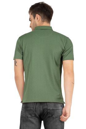 Mens Dot Pattern Polo T-Shirt