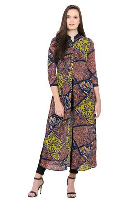 EXCLUSIVE LINES FROM BRANDS Womens Band Neck Printed Kurta