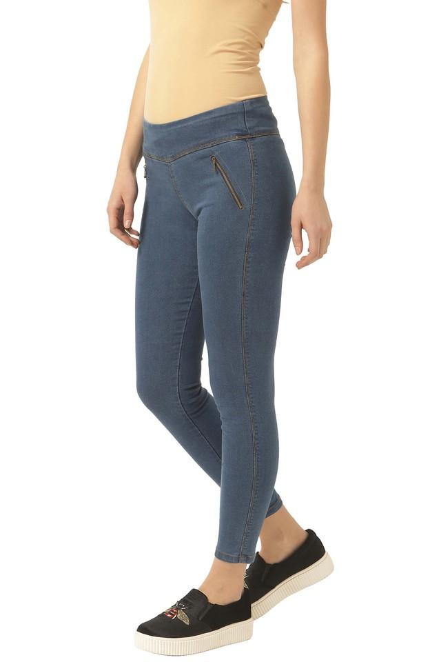 Womens 2 Pocket Rinse Wash Jeggings