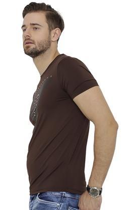 Mens Round Neck Embellished T-Shirt