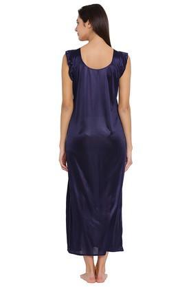 984e3f482a X CLOVIA Womens Round Neck Solid Night Gown. CLOVIA. Womens Round Neck  Solid Night Gown .