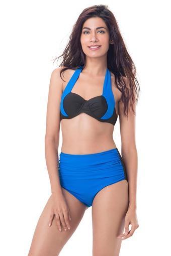6ee525b44e91a2 Buy PRETTY SECRETS Womens Halter Neck Colour Block Bikini Swimsuit |  Shoppers Stop