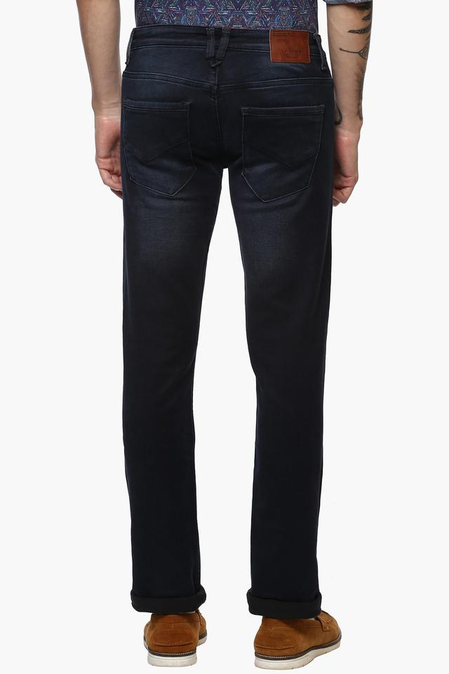 Mens 5 Pocket Slim Fit Mild Wash Jeans