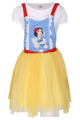 Girls Strappy Neck Printed Pinafore Dress and Top Set