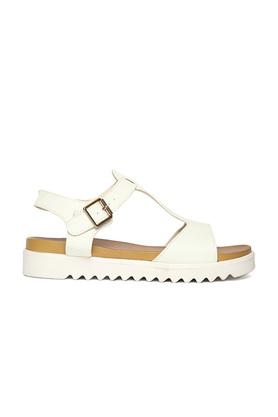 Womens Casual Wear Buckle Closure Wedges