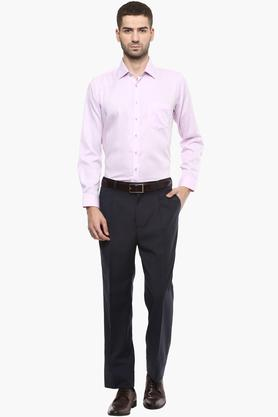 Mens Slim Collar Printed Shirt - (Durapress)