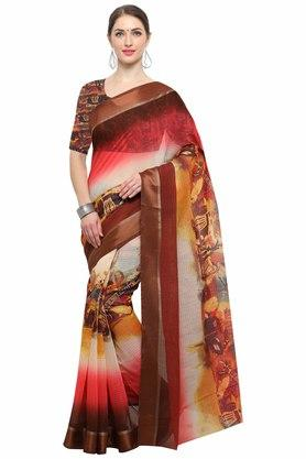 RACHNA Womens Art Silk Digital Printed Saree With Blouse - 204088362_7086