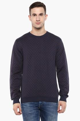 WILLS LIFESTYLEMens Round Neck Printed Sweatshirt