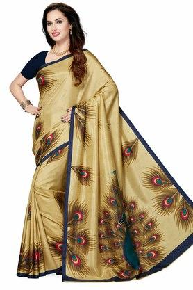 ISHIN Womens Printed Art Silk Saree - 204036434_8334