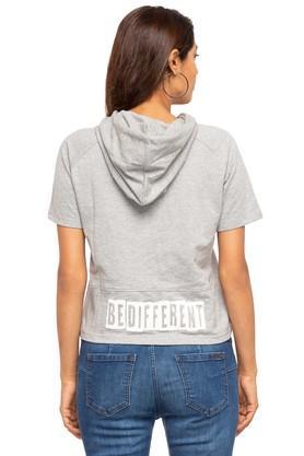 Womens Hooded Slub Sweatshirt