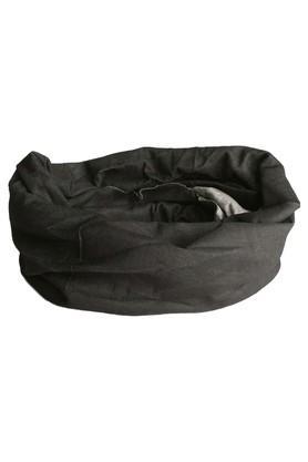 Unisex Black Solid Headwear