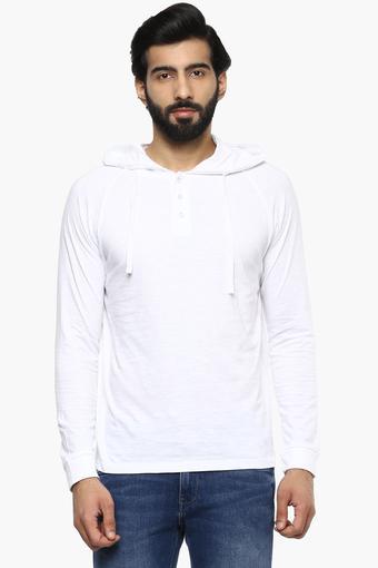 Mens Hooded Slub T-Shirt