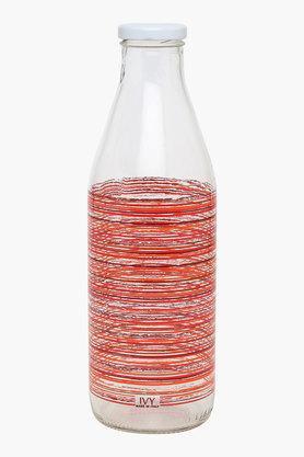 Round Stripe Glass Bottle with Cap