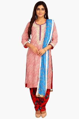 BIBA Women Straight Cotton Suit Set - 202981631