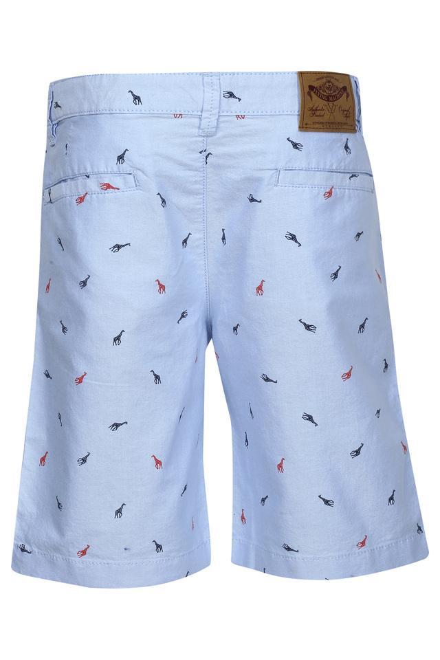 Boys 5 Pocket Printed Oxford Shorts