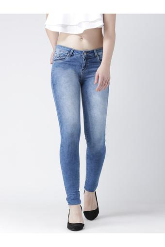 Womens Skinny Fit Stone Wash Jeans