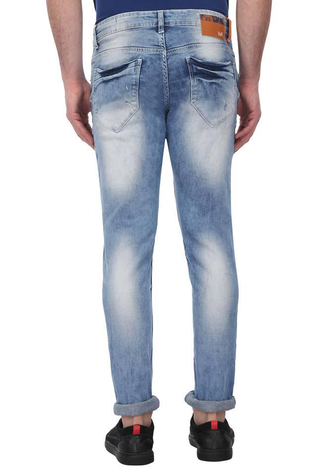 Mens Skinny Fit Distressed Jeans