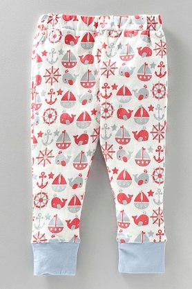 Girls Solid and Printed Leggings Pack of 2