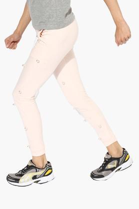 Womens Embellished Full Length Joggers