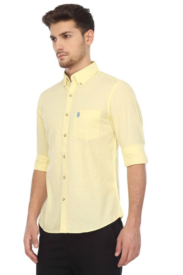Mens Buttondown Collar Solid Shirt