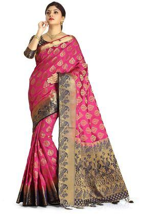 DEMARCA Womens Art Silk Tussar Designer Saree - 204100129_9557