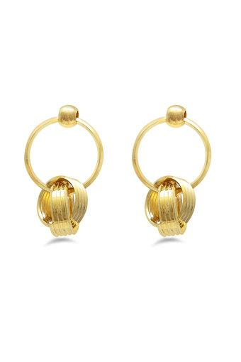 Womens Gold Plated Drop Earrings