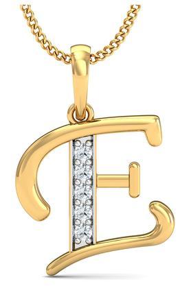P.N.GADGIL JEWELLERSWomens The 'E' Diamond Pendant DJPD-73