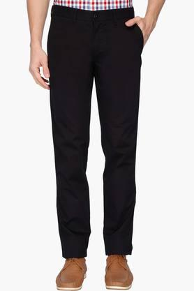 LOUIS PHILIPPE SPORTSMens 4 Pocket Solid Chinos - 203032915