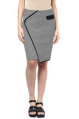 109F Womens Striped Casual Skirt