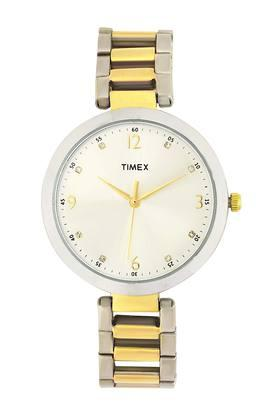 Womens White Dial Metallic Analogue Watch - TW000X200