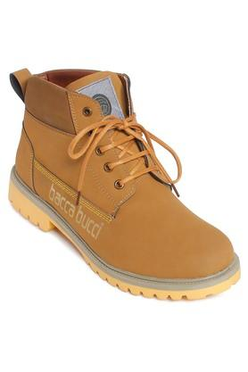Mens PU Lace Up Boots