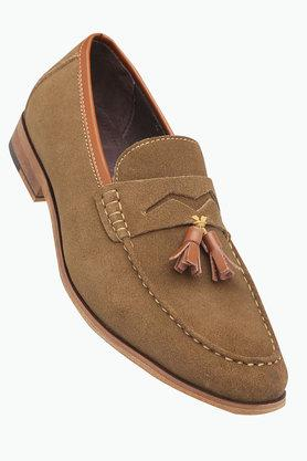 TRESMODE Mens Suede Slip On Moccasins
