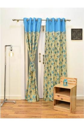 Floral Printed Door Curtain