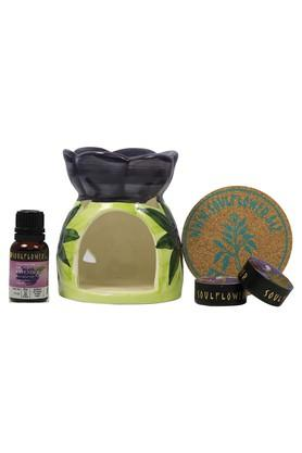 SOULFLOWERLavender Flower Aromatherapy Candle Diffuser Set - 15 Ml