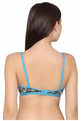 Womens Non Padded Non Wired Full Coverage Demi Cup Bra