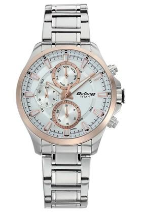 TITANMens Octane Active White Dial Multifunction Watch 90104KM03