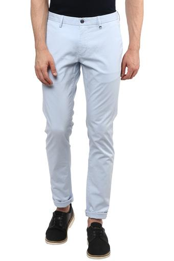 Mens 5 Pocket Self Printed Trousers