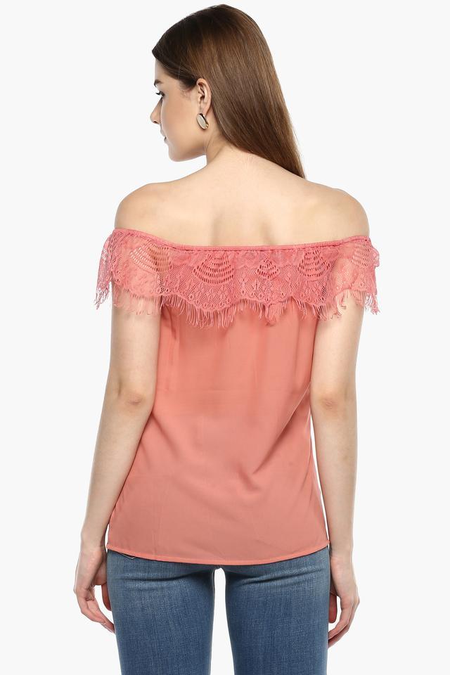 Womens Off Shoulder Neck Lace Top