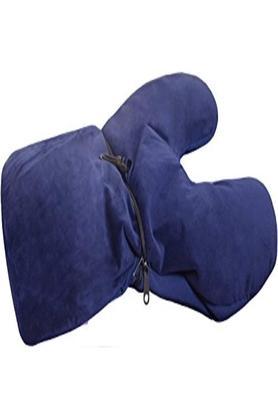 2 Way Convertible Pillow - Navy Blue