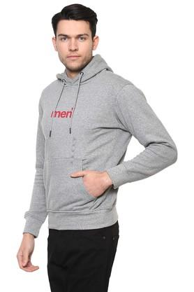 Mens Hooded Slub Sweatshirt