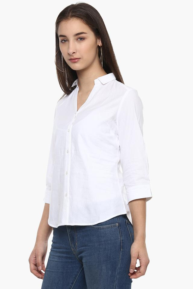 Womens Self Pattern Casual Shirt