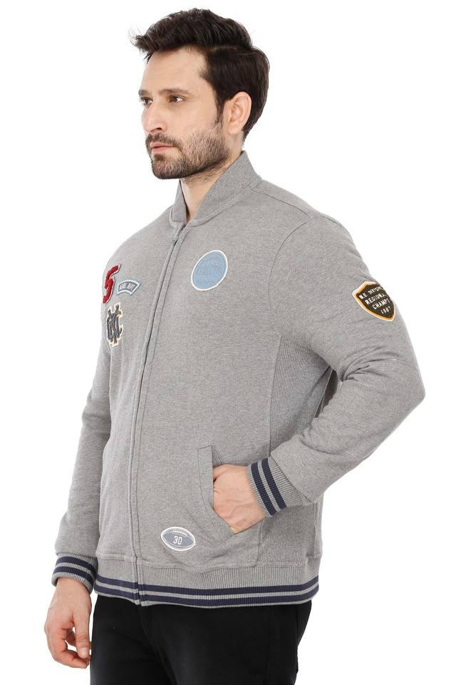 Mens Patch Work Casual Sweatshirt