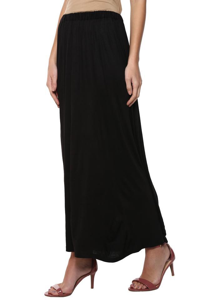 Womens Full Length Solid Skirt