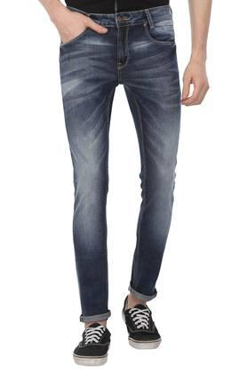 Mens 5 Pocket Whiskered Effect Jeans
