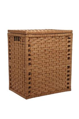 BACK TO EARTH Square Corner Fit Woven Basket With Lid - 44 Cms