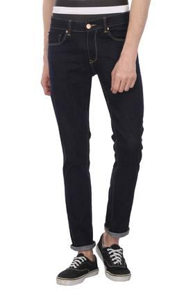 Mens Skinny Fit 5 Pocket Rinse Wash Jeans